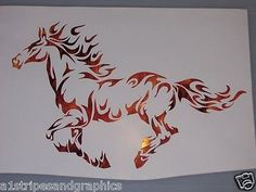 would be soo cool as a tattoo Mustang Tribal Flame Horse Pony Window Decal Decals Trailer Sticker Graphics Horse Drawings, Animal Drawings, Art Drawings, Fire Horse, Tribal Animals, Motifs Animal, Tribal Art, Tribal Horse Tattoo, Horse Tattoos