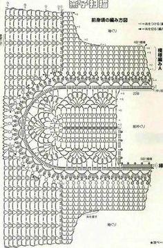 Fabulous Crochet a Little Black Crochet Dress Ideas. Georgeous Crochet a Little Black Crochet Dress Ideas. Col Crochet, Gilet Crochet, Crochet Shirt, Crochet Diagram, Crochet Motif, Crochet Designs, Crochet Stitches, Crochet Baby, Crochet Patterns