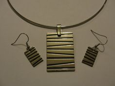 Silver choker with matching earrings
