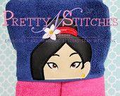 Mulyn Princess Peeker Applique Embroidery Design (5X7 Hoop)
