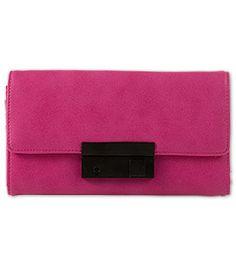 Geldbörse in Leder-Optik in der Farbe pink bei C&A