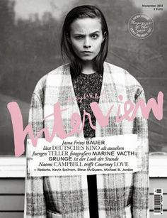 New cover for Interview Germany. Featuring Marine Vacth shot by Jurgen Teller.