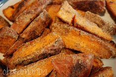 Just made these fabulous Garlic Sweet Potato fries tonight. They seriously are my fave.