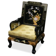 Hand Painted Grand Imperial Sofa Chair