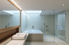 What a great use of natural light in this bathroom.