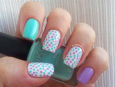 I love dots! Cute Nails, Pretty Nails, Hair And Nails, My Nails, Polka Dot Nails, Polka Dots, Healthy Nails, Dream Nails, Cool Nail Designs