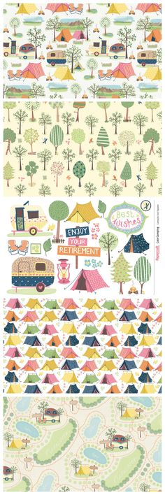 Free Printable Cute Camping Digital Kit from the Papercraft Inspirations Magazine