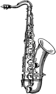 **FREE ViNTaGE DiGiTaL STaMPS**: Free Digital Stamp - Musical Saxophone