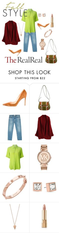 """""""Fall Style With The RealReal: Contest Entry"""" by lacehearts58 on Polyvore featuring Christian Louboutin, Balenciaga, Acne Studios, CÉLINE, Michael Kors, CC SKYE, Pamela Love and Dolce&Gabbana"""