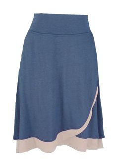 Folded Leaf Skirt in Indigo | Hooked Productions Made in USA Bamboo/ organic cotton