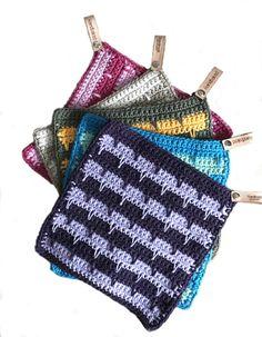 Pannenlap Spiki   Gratis patronen   Huisje van Katoen Crochet Shawl, Diy Crochet, Easy Crochet Patterns, Knitting Patterns, Arm Knitting Tutorial, Boyfriend Crafts, Knit Dishcloth, Crochet Home Decor, Crochet Kitchen