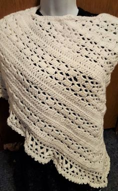 Crochet Prayer Shawl  Wrapped in Warmth by PunkinPatchApparel