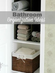 Easy and frugal Bathroom Organization Ideas. #bathroom #organization