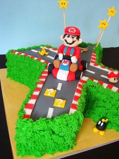 butter hearts sugar: Mario Kart Birthday Cake