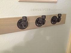 DIY Pipe Project Towel Hooks. Check out just how easy it is to make this rustic and beautiful towel hook, thanks to @alelell.  http://www.rustoleum.com/product-catalog/consumer-brands/stops-rust/metallic