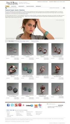 Handmade #Copper #Jewelry by San Francisco jewelry designer John S. Brana  http://www.johnsbrana.com/metal/handmade-copper-jewelry.html