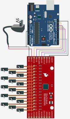 Controlling a ton of servos – TLC5940 + Arduino