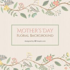 Cute floral mother's day background Free Vector