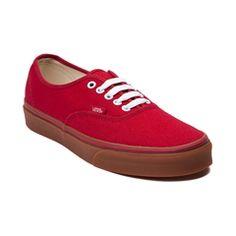 Red/Gum Authentic Vans