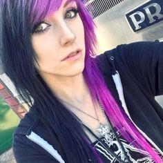 Alex Dorame w/ black & purple hair