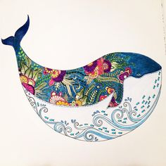 """Totally loving my new #lostocean coloring book by @johannabasford"