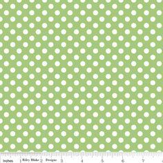 Riley Blake Designs - Dots - Small Dots in Green