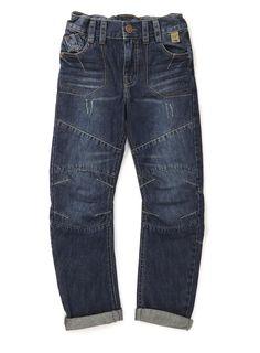 Boys Blue Denim Wall Work Wear Jeans - BHS
