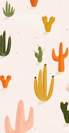 samsung wallpaper illustration colorful cactus - Best of Wallpapers for Andriod and ios Homescreen Wallpaper, Iphone Background Wallpaper, Pastel Wallpaper, Aesthetic Iphone Wallpaper, Aesthetic Wallpapers, Cactus Wallpaper, Cute Wallpaper Backgrounds, Cute Wallpapers, Samsung Wallpapers
