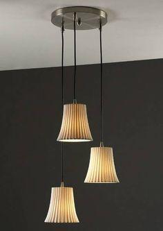 Justice Design Group POR-8818-20 3 Light Limoges Mini Flared Triple Multi-Light Pendant - Lighting Universe  $350