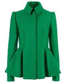 SOLLEL - Short peplum coat | Ted Baker