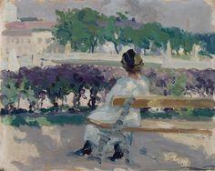 huariqueje: The View from Turku - Santeri Salokivi 1915 Finnish, 1886–1940 oil on cardboard , 32,50 x 40,50 cm.