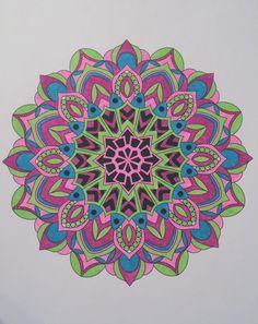 ColorIt Mandalas to Color Volume 1 Colorist: Belinda Hilbrich Waters #adultcoloring #coloringforadults #mandalas #mandalastocolor