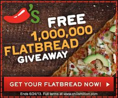 Chili's Flatbread Giveaway!  - http://extremecouponprofessors.net/2013/06/chilis-flatbread-giveaway/