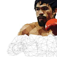 Low Polygon Portrait - Floyd Mayweather Manny Pacquiao on Behance Zach R Manny Pacquiao, Portrait Ideas, Portraits, Polygon Art, Floyd Mayweather, Anatomy Drawing, Portrait Illustration, Low Poly, Athletes