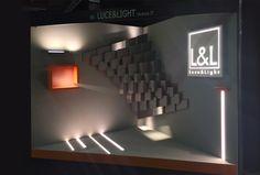 Progettazione stand per Architect@Work Milano/Parigi, L&L #kreactivfarm #kfadv #concept #stand #project #led