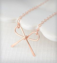 Bow Bracelet - Rose Gold by Olive Yew