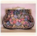 "Nr. 170 Petit Point evening bag ""Flowers - Angel"""
