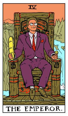 The Emperor Twin Peaks tarot card by Benjamin Mackey Tarot Card Decks, Tarot Cards, The Emperor Tarot, The Magician Tarot, David Lynch Twin Peaks, Tarot Major Arcana, Cultura Pop, Freddy Krueger, Jason Voorhees