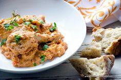 Chicken a la Bourride - tangy tomato and aioli stew.