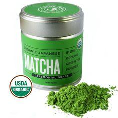 Matcha Green Tea Powder Organic Japanese Ceremonial Grade For Sipping 30g Tin  #JadeLeafOrganics