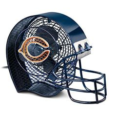 "Chicago Bears #1 Fan Electric Fan Market First! NFL-licensed Chicago Bears helmet-shaped fan complete with face mask, Bears logo and team colors. 2-speed motor. Limited edition. Measures 12"" L x 10"" H x 4"" D Price: $125.00 US BradfordExchange.com Follow me at: pinterest.com/cozywickless"