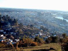 View of my hometown Padre Las Casas and the RIO CAUTÍN, from the CERRO CONUN-HUENUN