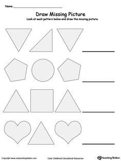 Complete the Pattern | Homework | Pinterest | Printable worksheets ...