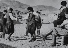 """Crete """"Dancing in Crete"""" From """"Folk Music of Greece"""" (published Smithsonian Center for Folklife and Cultural Heritage.Photo by Nelly's. Folk Music, Shades Of Grey, Greece, Nostalgia, Culture, Dancing, Travel, Memories, Costumes"""