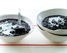 Black Rice Pudding 1 cup black rice 1/2 cup sugar 1 (13 1/2- to 15-oz) can unsweetened coconut milk, stirred well