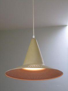 Bengt Karlby; Enameled Metal Ceiling Light for Lyfa, 1962.