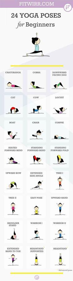 Asanas Yoga: 24 Yoga Poses for Beginners