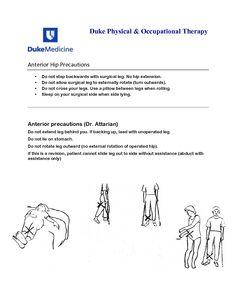 Posterior hip replacement precautions handout total hip anterior hip precautions illustrations anterior hip precautions fandeluxe Image collections
