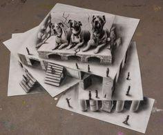 Brilliant Examples of 3D Pencil Drawings