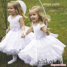 Доброго времени суток всем заглянувшим! Хочу показать платье связанное для дочери на Новый год, наконец-то руки дошли.  Вязала из Coco от Vita cotton, крючком №2. Ушло 275 грамм (5,5 мотков)